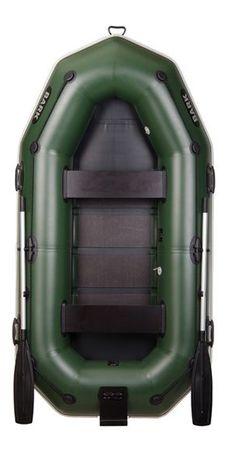 Лодка надувная двухместная Барк В-270NP новая, човен надувний.