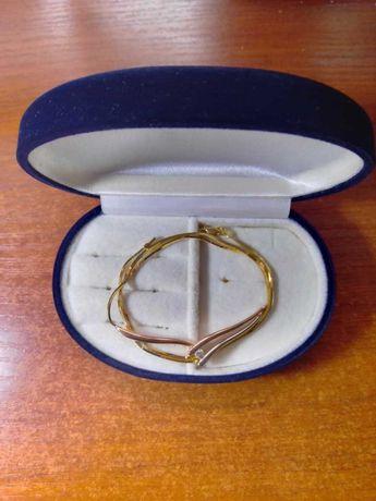 Золотой комплект колье и кольцо с бриллиантами