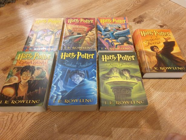 J.K. Rowling Harry Potter komplet zestaw wszystkie książki tom 1-7