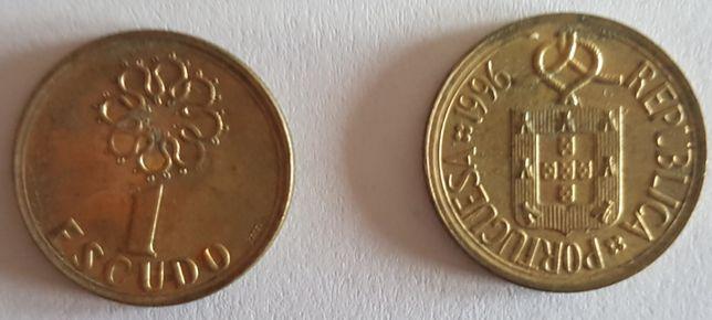 Moedas 1 escudo tamanho pequeno 1981 a 2000