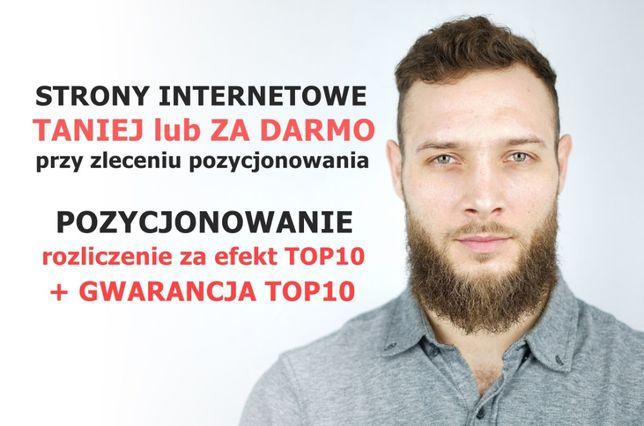 Strony internetowe + Pozycjonowanie z GWARANCJĄ TOP10 | Płać za TOP10!