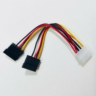 Adaptador cabo molex para 2 Sata 15 pin