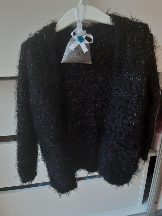 Sweterek dziewczęcy z błyszczącą nitką rozm.92 Płock - image 1