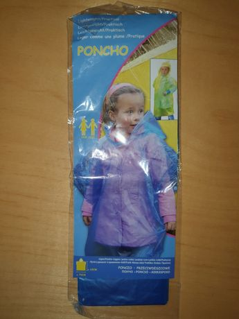 Płaszczyk - Ponczo przeciwdeszczowe dla dziecka - 63x70cm