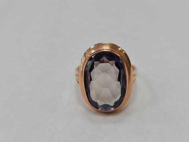 Wyjątkowy złoty pierścionek damski/ Radzieckie 583/ 7.50 gram/ R19