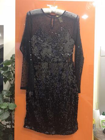 Платье HM паетки