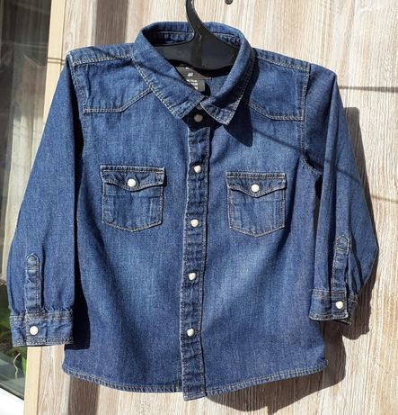 Рубашка джинсовая фирма H&M для мальчика 1,5 - 2 года.