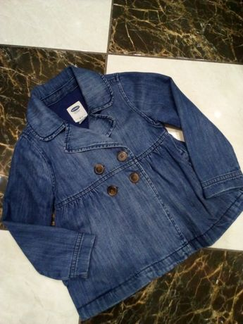 Джинсовый пиджак oldnavy джинсовка куртка плащ 5л.(110р.)