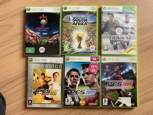 Gry xbox 360 fifa 14, Euro 2008, South Africa, PES 6, PES 2009,