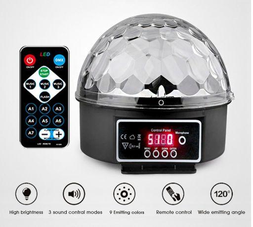 Светодиодная лампа, диско-светильник, лазер, 9 цветов, 21 режим, DMX D