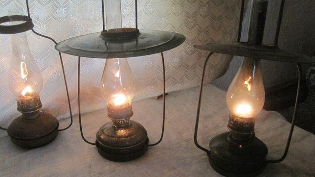 домашня необичної конструкції керосинова лампа старина 0,5 м.