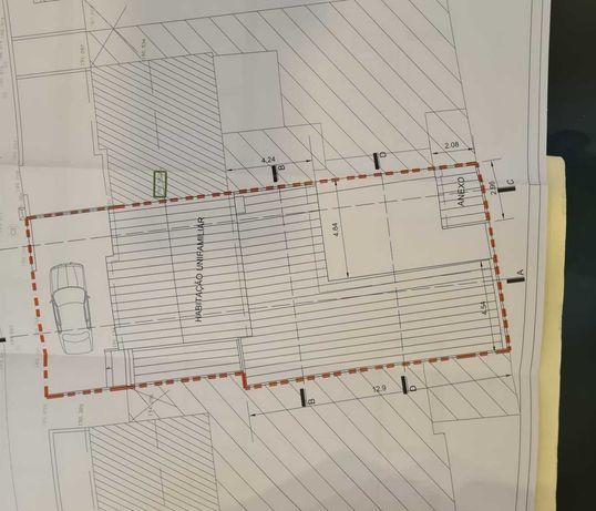 Moradia com projeto aprovado em sao joao da madeira,area 200mt2