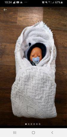 Махровый плед одеяло для малыша