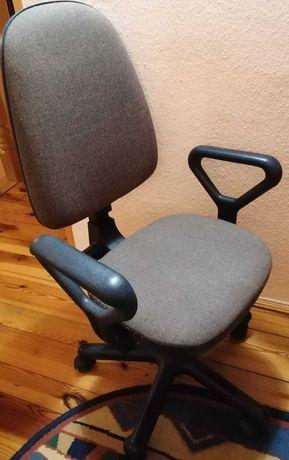 krzesło obrotowe fotel do biurka brązowe