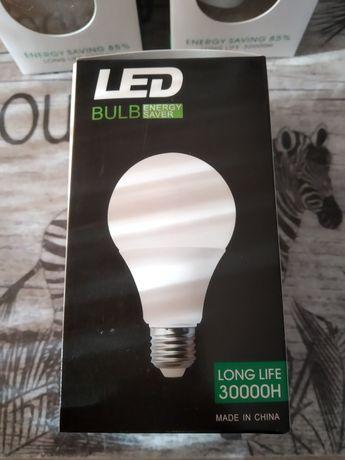Żarówki LED E27 7W barwa ciepła (cena za 7szt) nowe