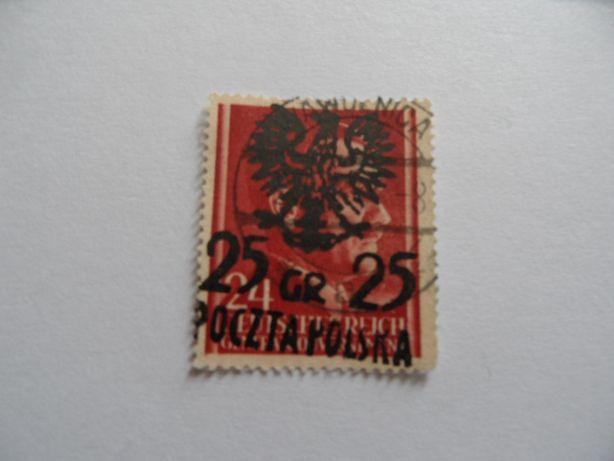 znaczki pocztowe Poczta lokalna Wąwolnica hitler 25/24 gr. kasowany