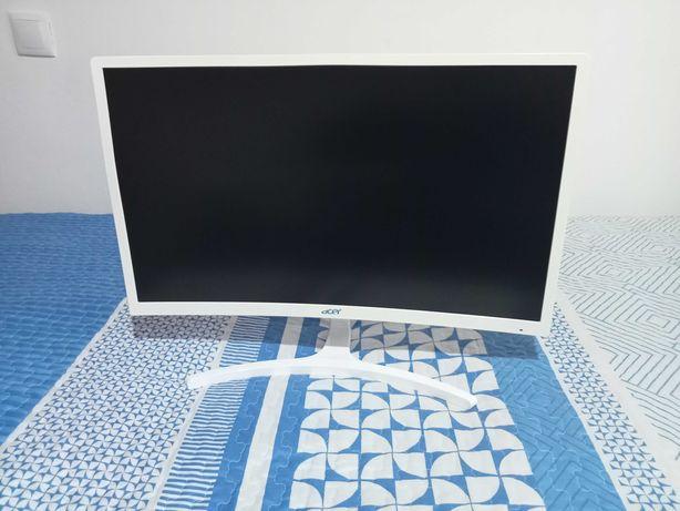 Monitor Acer Branco Curvo 24 Polegadas