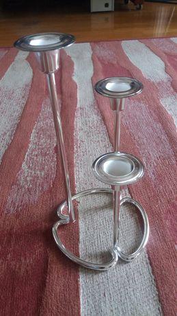 Castiçal / candelabro Regent - Banhado a prata
