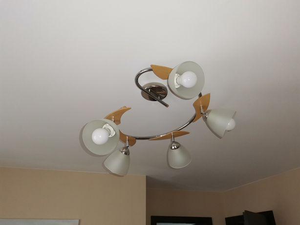 Lampa sufitowa 5 kloszy