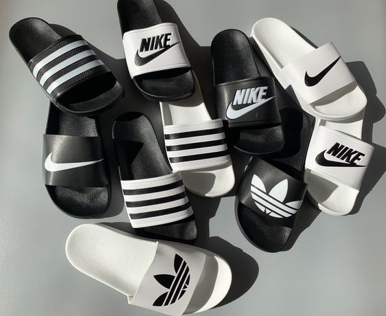 Шлепанцы шлепки тапки Adidas Nike адидас найк шльопанцi сланцы тапочки