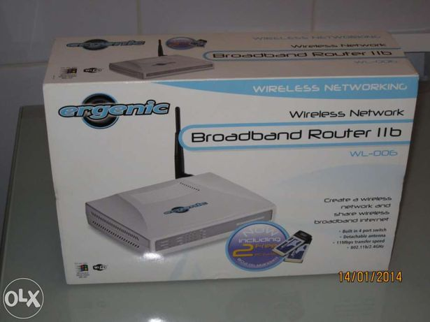 Wireless Broadband Router Ergenic (PORTES GRÁTIS)