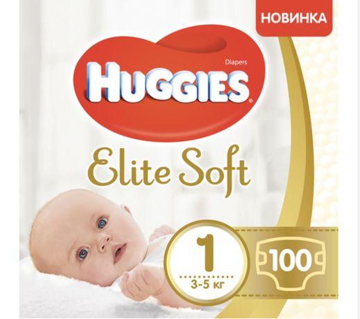 Подгузники Huggies Elite Soft Newborn 1 (3-5 кг), 100 шт.