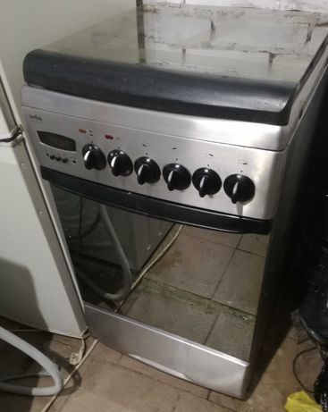 Kuchenka gazowo-elektryczna Amica Inox Srebrna termoobieg