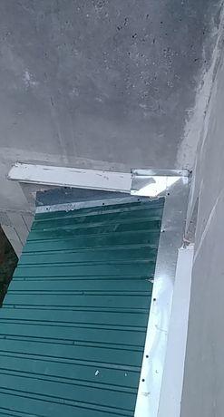Ремонт козырьков, затекания,  крыши балконов