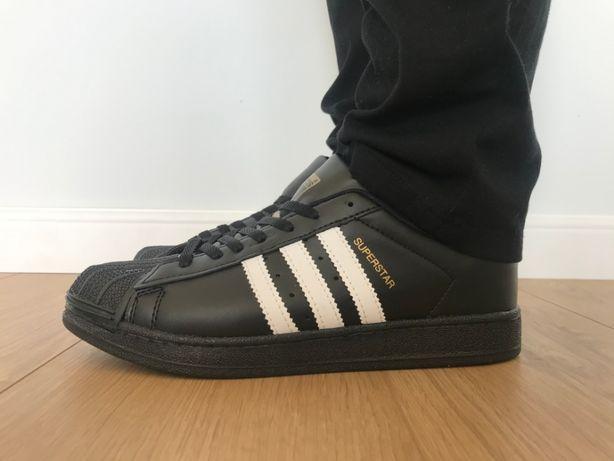 Adidas Superstar. Rozmiar 44. Czarne - Białe paski. Super cena!