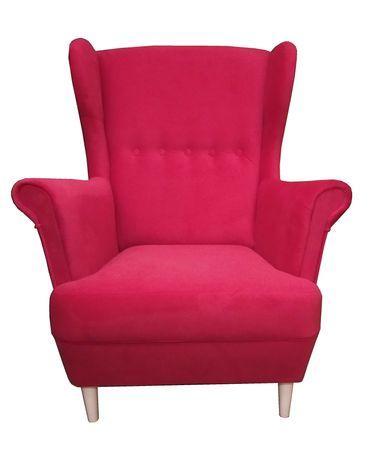 Wygodny fotel uszak. Styl skandynawski. Różne wzory! Bonell gratis!