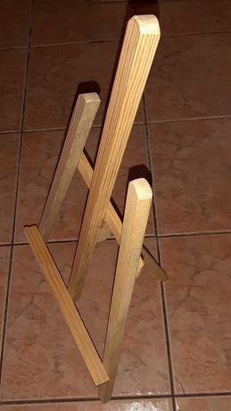 Mała sztaluga drewniana
