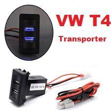 Адаптер зарядка в машину 2хUSB VW T4 Transporter