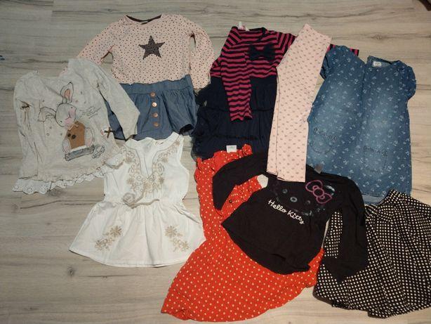 Zestaw ubrań ubranka dziewczynka 98/104 cm 2-4 latka