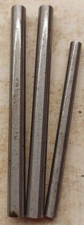 Nóż noże tokarskie stalka stalki - zestaw 3 sztuki fi- 8 i 6 SW18 nowe