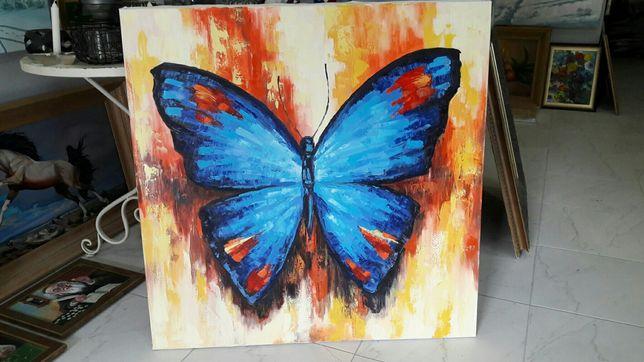 Картина маслом Бабочка Метелик