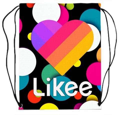 Сумка для сменки обуви принт Likee Video Box Лайки Видео купить сумку