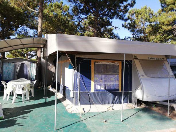 Caravana na Lagoa de Santo André com tudo incluído em excelente estado
