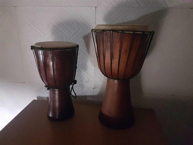 Эксклюзивный барабан из дерева и кожи