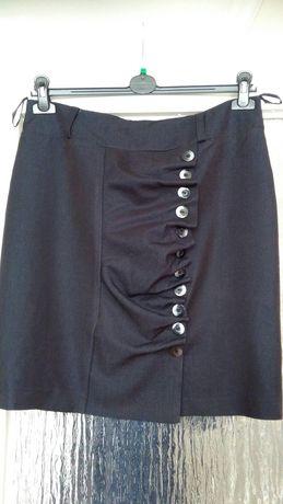 Spódniczka elegancka ciemny grafit czarna r XL/42
