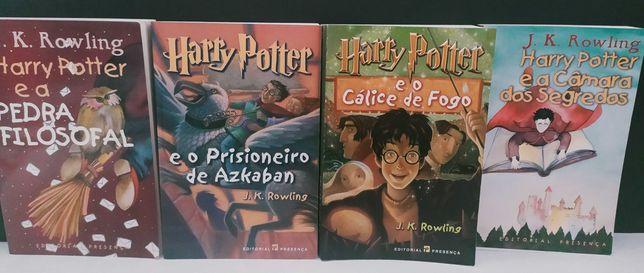 Livros Harry Potter,  perfeitas condições  1 edição!