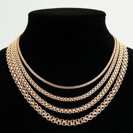 """Набор """"Бисмарк"""": цепочка, браслет, кулон (медицинское золото позолота)"""
