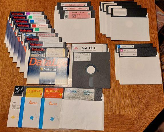 """Dyskietka 5,25"""" Commodore, Atari, 486, 5,25 Dyskietki 39 szt,"""