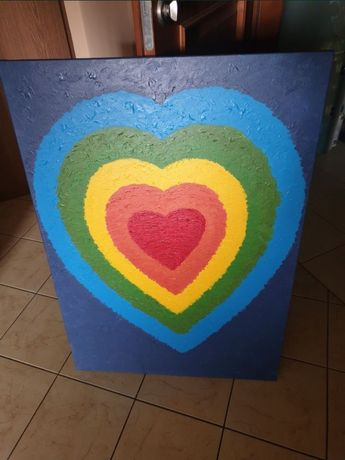 Nowy obraz 100x70 Serce Akryl + gratis wysyłka