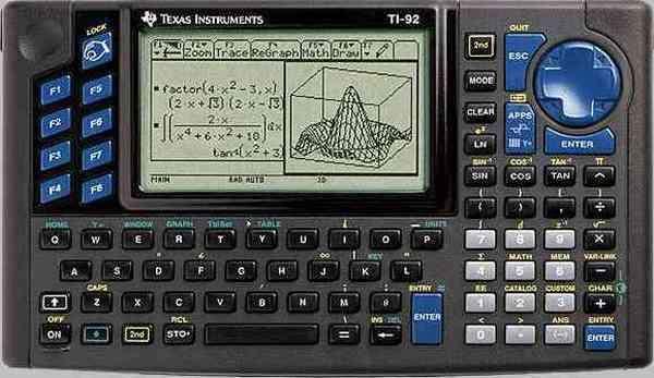 Máquina de calcular científica - Texas Instruments TI 92
