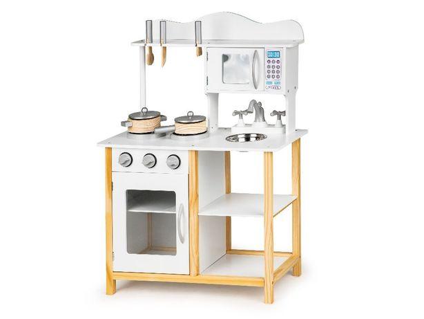 Drewniana kuchnia dla dzieci + akcesoria kuchenne - 2 MODELE # TK040