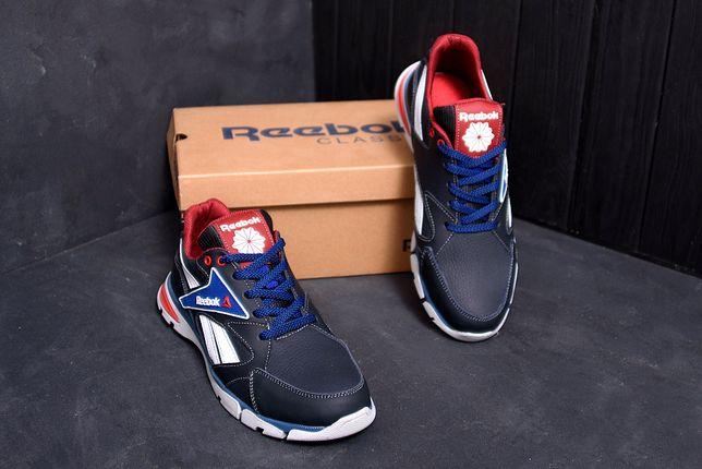 Мужские кожаные кроссовки Reebok Street Style Blue 211