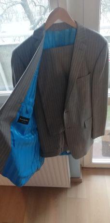 Elegancki garnitur XXL firmy Berwin & Berwin +4koszule +pokrowiec