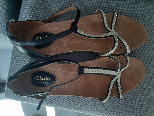 Sandały Clarks rozmiar 42 damskie skórzane