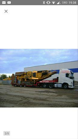 Transport niskopodwoziowy maszyn i towarowy wynajem sprzętu
