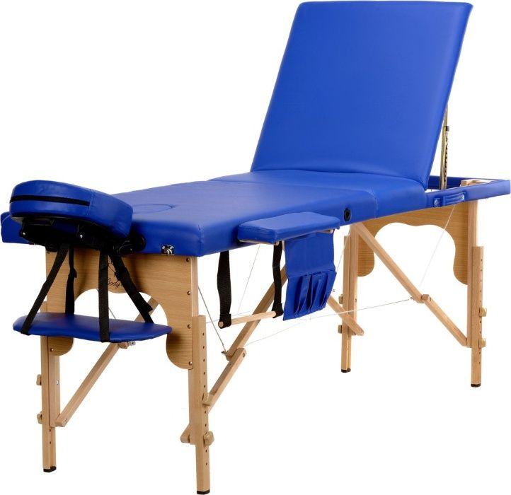 Stół, łóżko do masażu 3-segmentowe drewniane Różowe Kolory Katowice - image 1